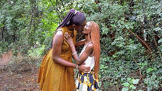 African Stepmom Teaching Horny Teen Daughter