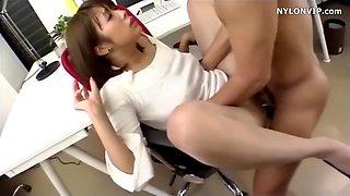 pantyhose office secretary fuck nylon sex