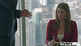 TUSHY Naughty Assistant Gets DESTROYED By Boss and LOVES it