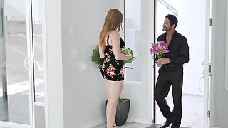 Cool man met charmer dressed up like slut and had sex with her