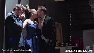 A Threesome of the After Party with Blue Angel