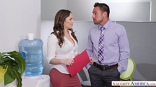 Horny boss Johnny Castle is fucking sexy assistant Lily Love in the office