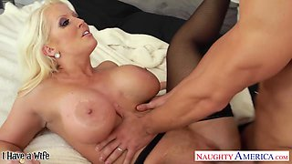 Strong voluptuous seductress loves her some married cock