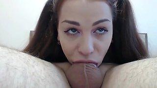 Sexy Teen Gives Perfect Deepthroat Blowjob Her Ex Boyfriend