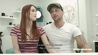 ShadyProducer - Czech red head girl gets it hard from 2 boys