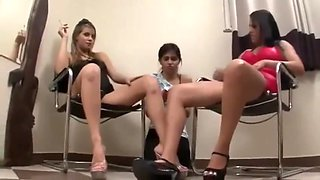 Lesbian slave abused by two mistress