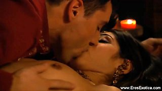 Beautiful and erotic love training from sexy india