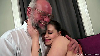 Dirty perv grandpa creampies young slut by 21 Sextreme.sexy