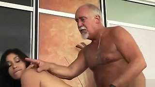 old man boss fuck his horny secretary