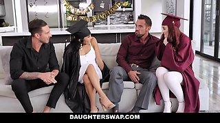 Jada Kai & Danni Rivers in Graduation Daughter Bangers - DaughterSwap