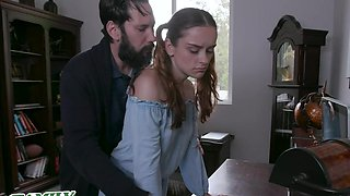 Cute Teen Spanked And Punished By Big Dick Dad