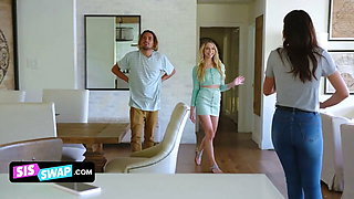 Two Stepbrothers Put On Masks To Trick Their Cute Sisters
