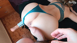 18YO Horny Stepsister Fucked After Gym Gets Creampie
