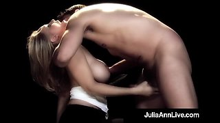 Busty cougar julia ann puffs on cigar &amp a dick on broadway!