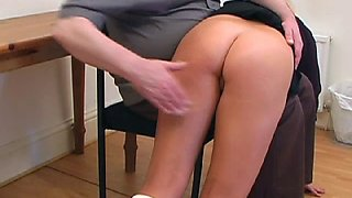 A blond well spanked