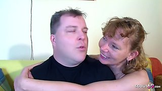 Real German Mature Couple Get First Threesome With Stra