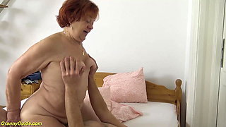 creampie with chubby 79 year old mom