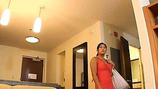 Luscious busty nipponese maid Mia Li enjoys hardcore