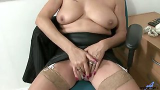 Dimonte with her sexy thick British accent talks with