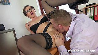 Yasmin Scott MILF and Secretary Gets Cum on Her Glasses - Private