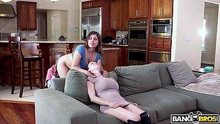 busty maid seduced and fucked by ebony hunk