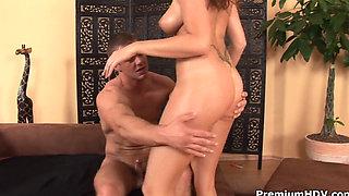 Hot Busty Girl Has A Big Orgasm