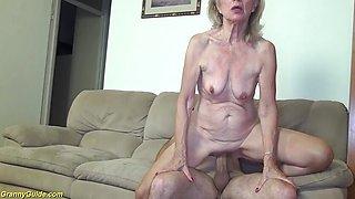 82 years old granny needs hard