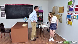 Getting an A isn't enough for this coed cuz she wants her teacher's cock
