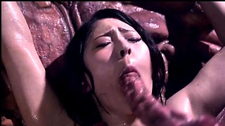 Big breasted Japanese hottie gets nailed deep by a monster