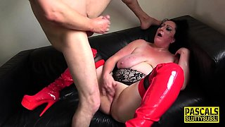 Tied up real sub squirts