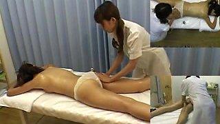 Japanese cutie enjoys oily massage session on hidden camera