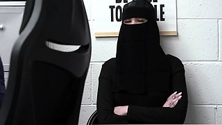 Muslim chick tried to conceal some stuff
