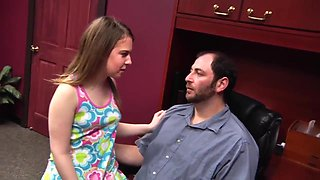 Busy Daddy Tired Teen - Brooke Bliss