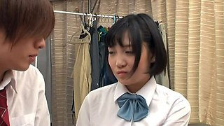 Japanese schoolgirl sexually aroused by practice of kiss 01