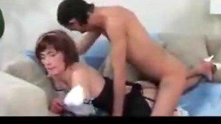 Sissy crossdresser maid gets fucked