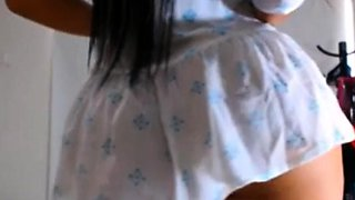 Brunette With Perfect Body Stripping On Webcam