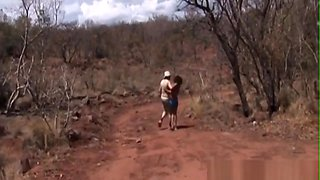 African Abused And Get Into Take Cock Outdoors