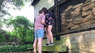 Chubby amateur girlfriend and her boyfriend having a lot of fun outdoors in public park