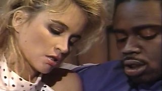 Retro Ebony Housewife Gets A White Cock In Her