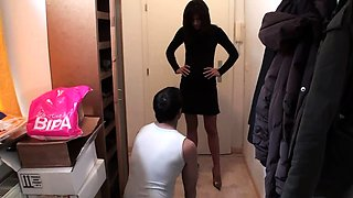 24-7 slave get home dominate with feet by sadistic cindy
