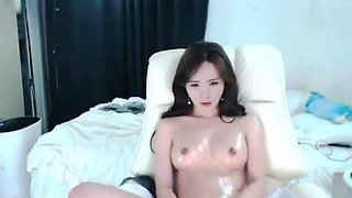 Beautiful Korean girl with sex dance