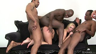 Black men ass fuck energized wife in a serious gangbang story