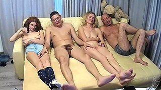 French swingers in a group sex party