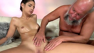 Bunny Love Rides Old Cock