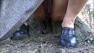 Busty amateur exhibitionist Lolas public nudity and outdoor masturbation of sexy flashing latina babe