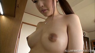 Pretty housewife Iroha Sagara gets hard fucking