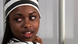 Black lesbian teenager gets licked