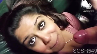 Desi nri Indian loves to suck her bf's big dick