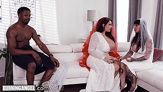 Samantha Mack And Isiah Maxwell - Bbw Bride With Huge Tits Has The Fuck Of Her Life With The Groomsman