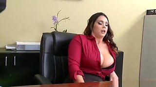 Big boobed Alison Tyler delivering BJ and titty fuck upon big cock